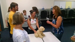 Students learn how to set up a medical area in an animal shelter.