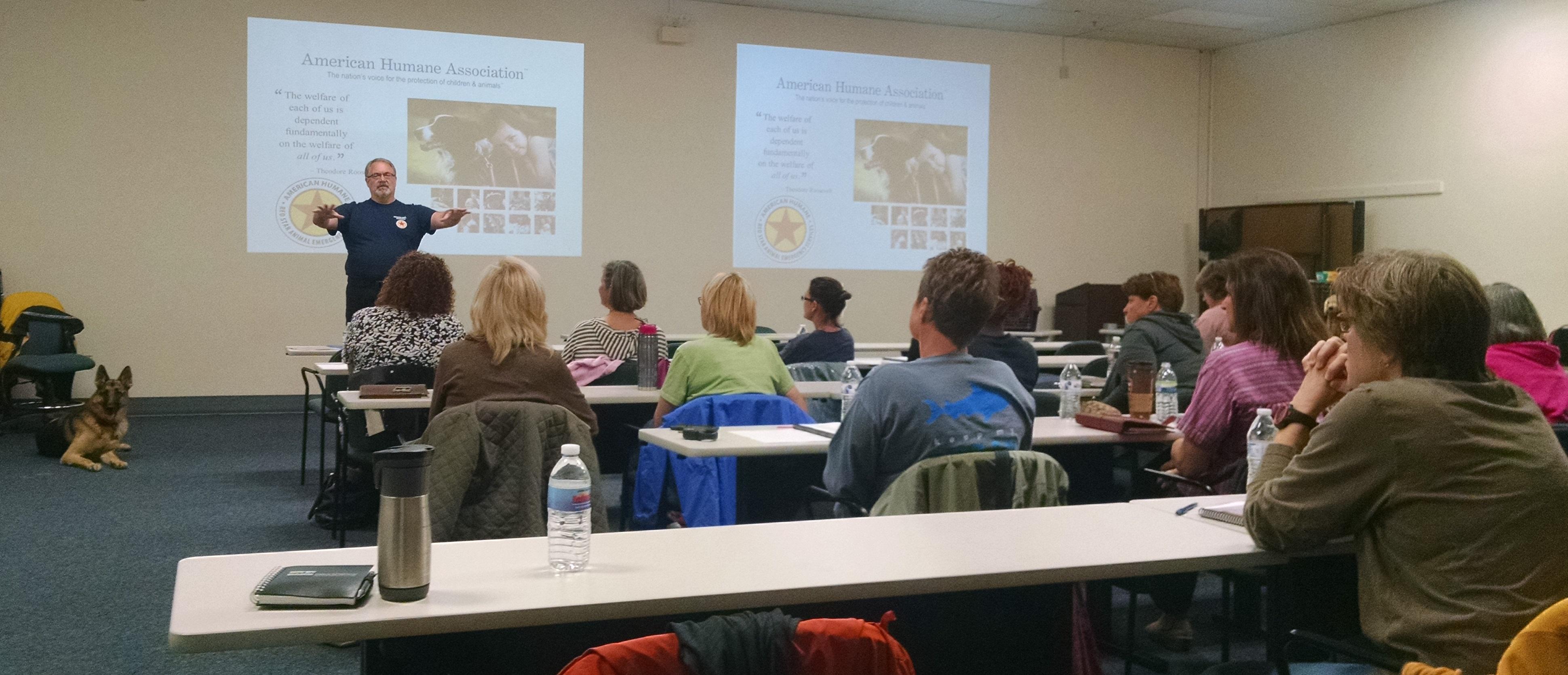 Office of Animal Welfare Hosts Training on Emergency