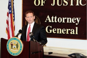 Attorney General Matt Denn outlines a revised proposal using the remaining $29-million from financial settlements with Bank of America and Citigroup, designed to address housing, crime, recidivism, substance abuse and education in some of Delaware's most economically distressed and crime-stricken communities.
