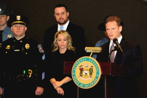 Attorney General Matt Denn joined with prosecutors and law enforcement officers from federal, state and local agencies to announce convictions of members of heroin trafficking organization.
