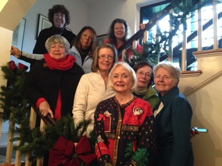 Members of the Sussex Gardeners who helped decorate the Zwaanendael Museum. From top left: Willa Jones, Ann Case, Judy Pinsdorf, Janet Point, Kathy Ackerman, Karen Combe, Martha Last and Donna Fellows.
