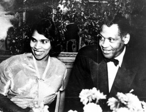 Photo of Marian Anderson and Paul Robeson