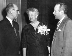 Eleanor Roosevelt with Governor J. Caleb Boggs
