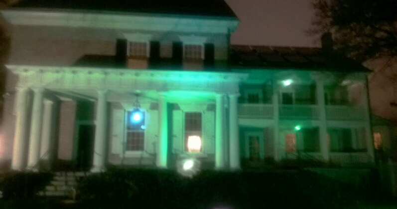 Woodburn lit up for Natitional Eating Disorders Awareness Month 2016.