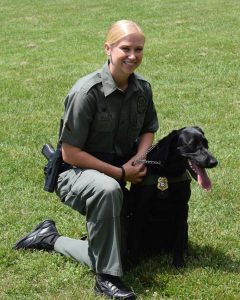 photo of AFC Allen and K9 River
