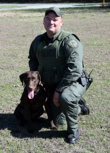 Photo of AFC Hudson and K9 Rosco