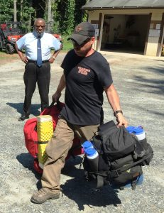 Crew boss Sam Topper of the Delaware Forest Service is leading a 20-person team that is headed to the Rocky Mountains on a two-week assignment to battle wildfires in the West.