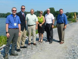 Hearns Pond dam improvements event