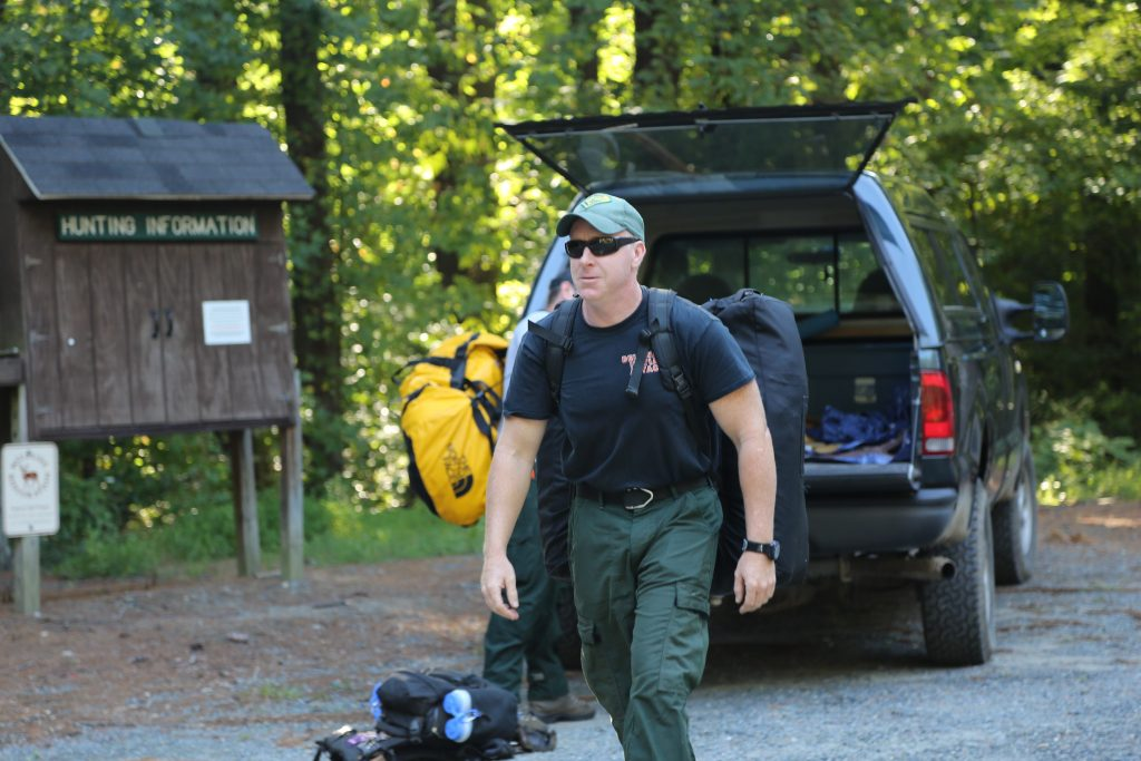 Delaware Forest Service employee Guy Cooper of Milton mobilized with the Delaware crew that departed Blackbird State Forest on August 25.