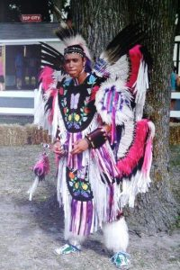 Lenape fancy dancer. The Lenape Indian Tribe of Delaware will be celebrating its heritage with drums, songs and dancing in Dover's Old State House on Sept. 2, 2017.
