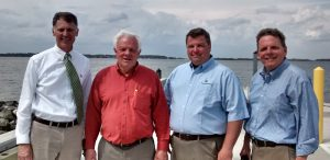 Officials at Holts Landing State Park