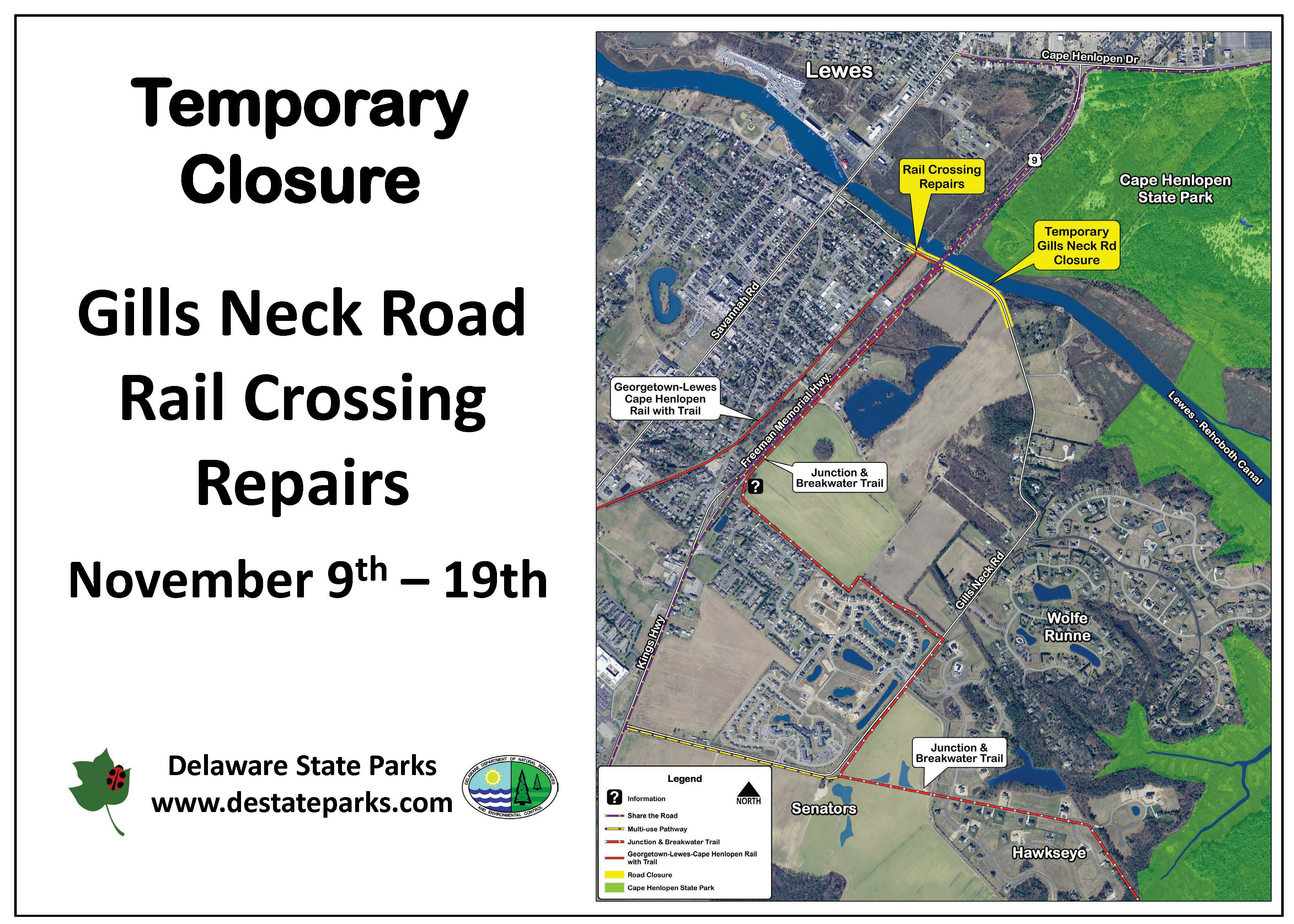 Upcoming repair work Nov  9–19 to affect use of Junction