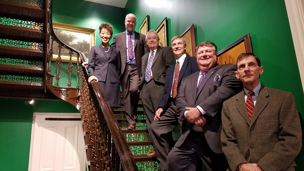 From left to right: Jane Chu, Chairman of the National Endowment for the Arts (NEA); Ryan Grover, Curator of the Biggs Museum; Charlie Guerin, Executive Director of the Biggs Museum; Paul Weagraff, Director of the Delaware Division of the Arts; J. Mack Wathen, Chair of the Delaware State of the Arts Council; John Schoonover, Board Member of the Biggs Museum at the Biggs Museum of American Art, Dover.