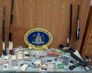 Evidence seized in the case against Justice Dalious. Fish & Wildlife NRP photo.