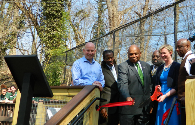 Ribbon cutting at Brandywine Zoo