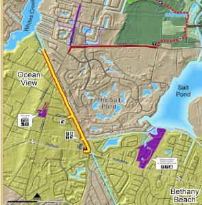 Assawoman Canal Trail map