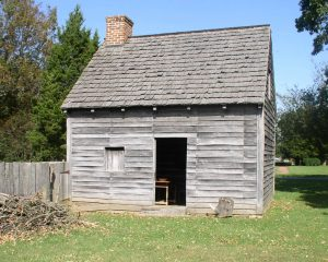 Visitors can help to clean and revitalize the John Dickinson Plantation's log'd dwelling on March 27, 2017.