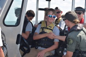 Participants in the 2016 Youth Academy earned their boating safety and hunter safety certifications.