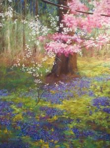 """The Rite of Spring, 2017, pastel, 46"""" x 38"""" (framed)."""
