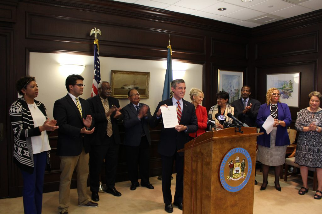 Governor Carney presents Executive Order 6.