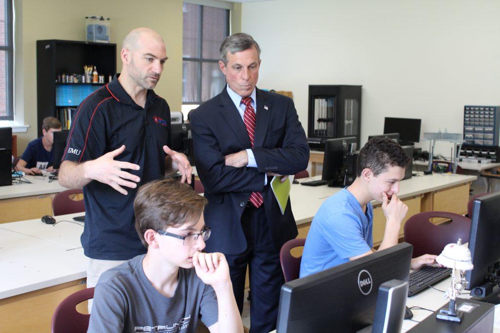 Gov. Carney visits Appoquinimink High School