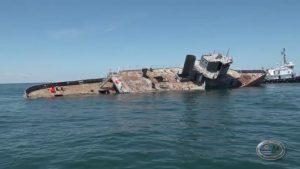 Zuni Tamaroa sinks on new reef