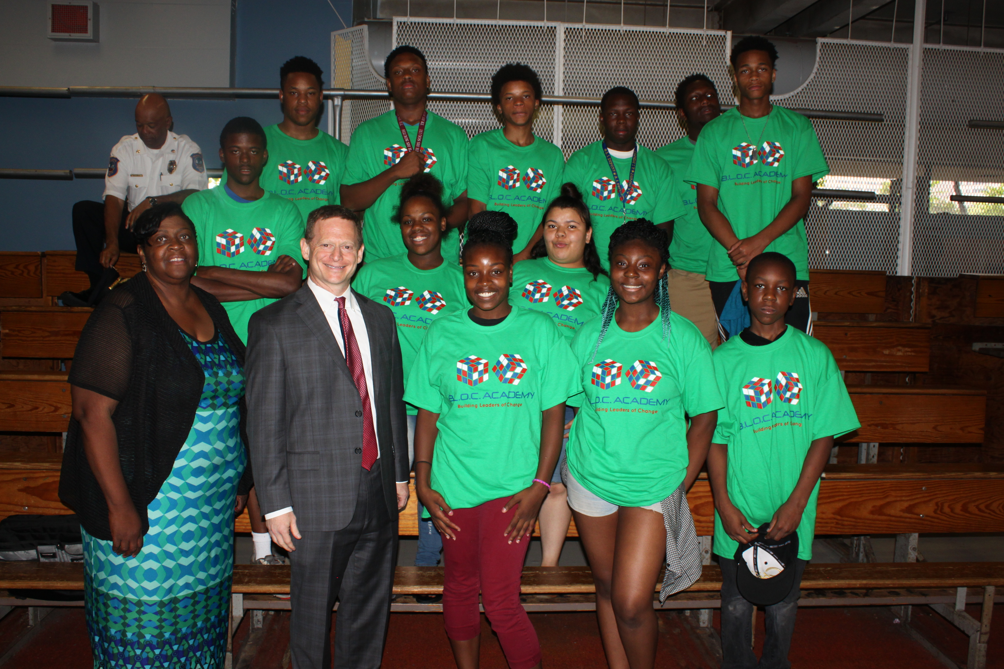 Attorney General Matt Denn with Pastor Lottie Lee Davis and participants of the Be Ready Community Development Corp.