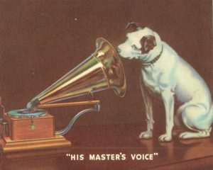"Victor Talking Machine Company trademark featuring ""Nipper"""