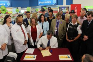 Governor Carney signs legislation making Nalaxone available in pharmacies.