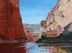 Meinrad Leckie, Grand Canyon Painting