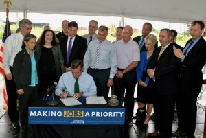 Governor Carney signs House Bill 190 to modernize the Coastal Zone Act.