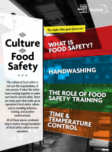 National food safety month poster