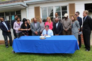 Governor Carney signs House Bills 187 and 188.