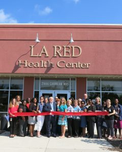 DPH, La Red Health Center and USDA officials cut the ribbon on moving WIC offices to La Red.
