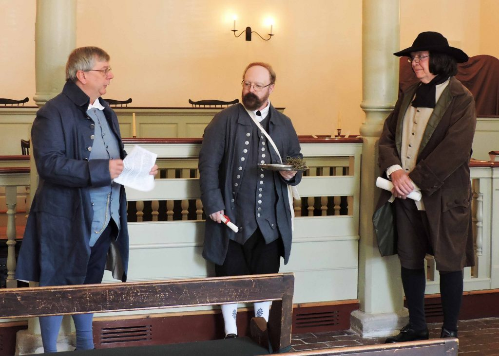 Re-enactment of the Livery of Seizen ritual inside the New Castle Court House Museum. The ceremony will be conducted as part of William Penn Day on Oct. 28, 2017.
