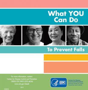 CDC brochure cover for senior falls prevention brochure