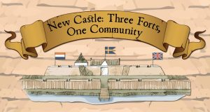 """Three Forts"" logo"