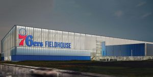 Rendering of the 76ers Fieldhouse.