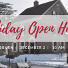 Holiday Open House at Woodburn on Satuday, December 2.