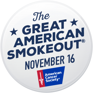 Great American Smoke Out button