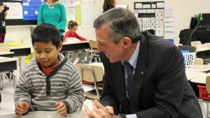 Governor Carney visits an English learner classroom at North Georgetown Elementary.