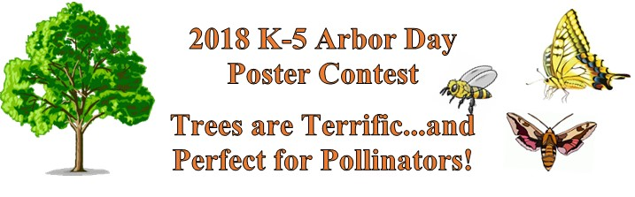 Perfect for Pollinators Theme for Delaware Arbor Day Poster Contest