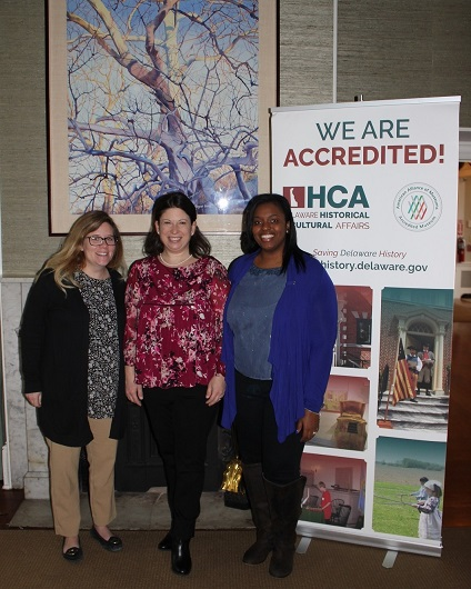 State Rep. Melanie George Smith visits the Buena Vista conference/event center in celebration of the Division of Historical and Cultural Affairs' accreditation by the American Alliance of Museums. From left are Patricia Gerken, Buena Vista site supervisor; Smith; and Desiree May, site manager