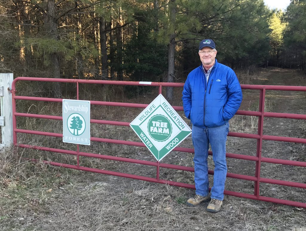 Doug Simpson of Bridgeville, 2018 Delaware Tree Farmer of the Year