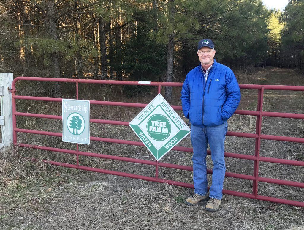 Doug Simpson of Bridgeville, 2018 Delaware Tree Farmer of the Year