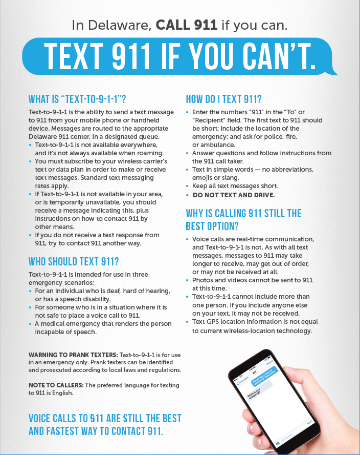 Text 911 fact sheet