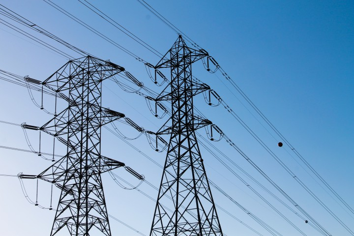 Photo of power lines and towers