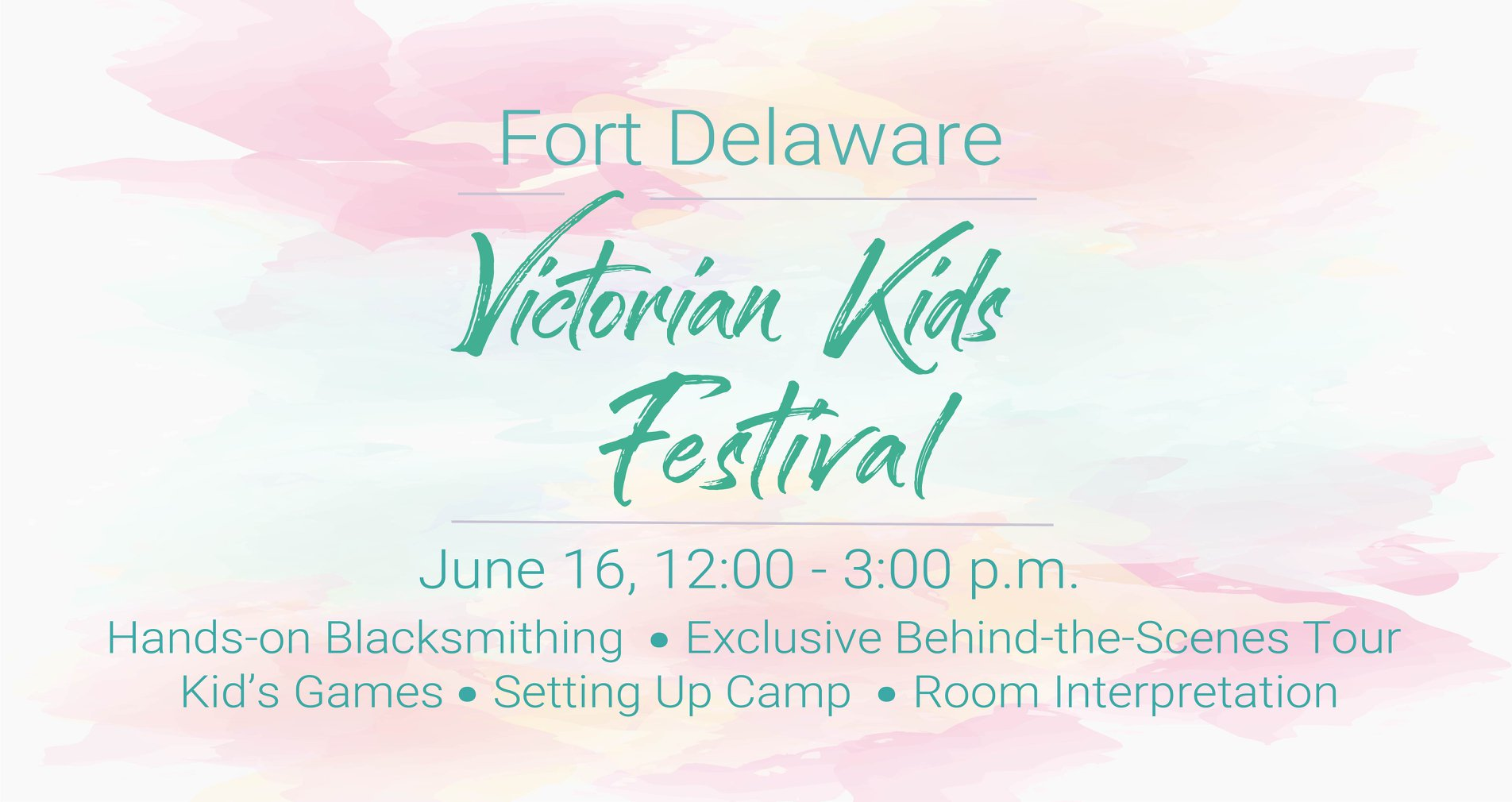 Victorian Kids Fest on June 16 at Fort Delaware State Park