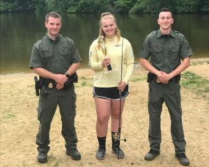 Youth Fishing Tournament Winner Elise Britton