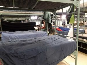 picture of bunk beds used in a shelter